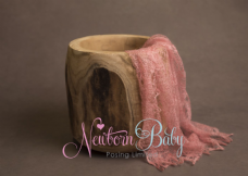 Plain Colour Lacey Wrap/Stuffer - SALMON PINK